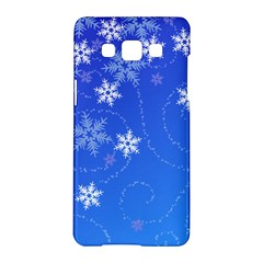 Winter Blue Snowflakes Rain Cool Samsung Galaxy A5 Hardshell Case