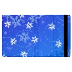 Winter Blue Snowflakes Rain Cool Apple Ipad Pro 9 7   Flip Case