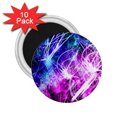 Space Galaxy Purple Blue 2 25  Magnets (10 Pack)