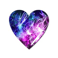 Space Galaxy Purple Blue Heart Magnet