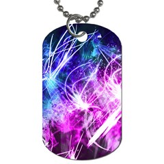 Space Galaxy Purple Blue Dog Tag (one Side)
