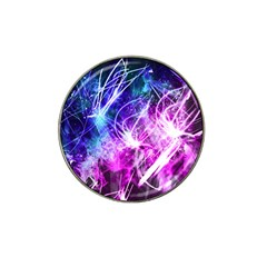 Space Galaxy Purple Blue Hat Clip Ball Marker