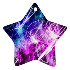 Space Galaxy Purple Blue Star Ornament (two Sides)