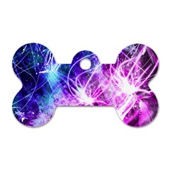 Space Galaxy Purple Blue Dog Tag Bone (two Sides)