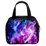 Space Galaxy Purple Blue Classic Handbags (2 Sides) Front