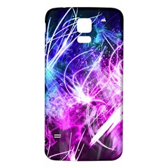 Space Galaxy Purple Blue Samsung Galaxy S5 Back Case (white)