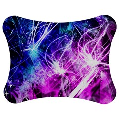 Space Galaxy Purple Blue Jigsaw Puzzle Photo Stand (bow)