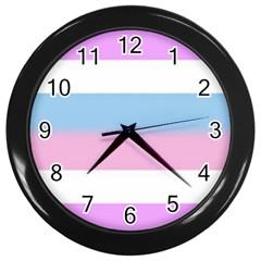 Big Stripes Wall Clocks (black)