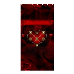 Wonderful Elegant Decoative Heart With Flowers On The Background Shower Curtain 36  X 72  (stall)