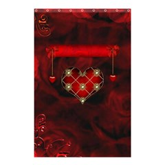 Wonderful Elegant Decoative Heart With Flowers On The Background Shower Curtain 48  X 72  (small)