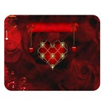 Wonderful Elegant Decoative Heart With Flowers On The Background Double Sided Flano Blanket (Large)  80 x60 Blanket Front