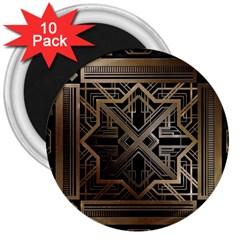 Art Nouveau 3  Magnets (10 Pack)