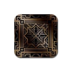 Art Nouveau Rubber Coaster (square)