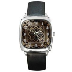 Art Nouveau Square Metal Watch