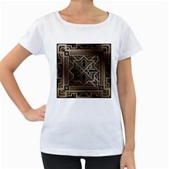 Art Nouveau Women s Loose Fit T Shirt (white)