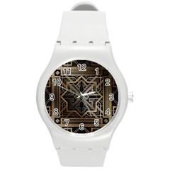 Art Nouveau Round Plastic Sport Watch (m)