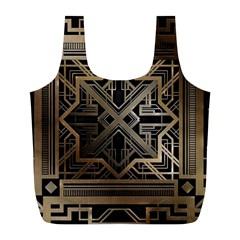 Art Nouveau Full Print Recycle Bags (l)