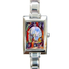 Abstract Tunnel Rectangle Italian Charm Watch