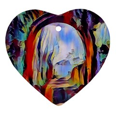 Abstract Tunnel Ornament (heart)