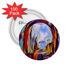 Abstract Tunnel 2 25  Buttons (100 Pack)