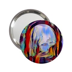 Abstract Tunnel 2 25  Handbag Mirrors