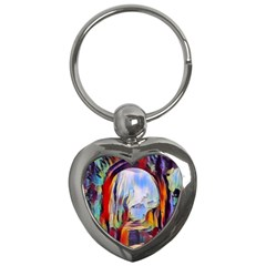 Abstract Tunnel Key Chains (heart)