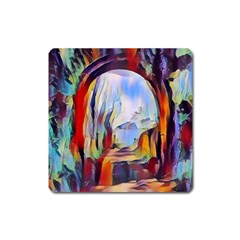 Abstract Tunnel Square Magnet