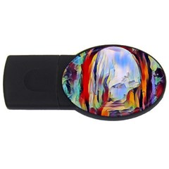 Abstract Tunnel Usb Flash Drive Oval (2 Gb)