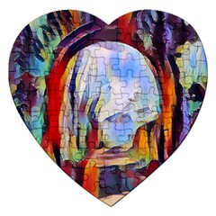 Abstract Tunnel Jigsaw Puzzle (heart)