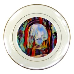 Abstract Tunnel Porcelain Plates