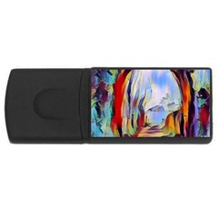 Abstract Tunnel Rectangular Usb Flash Drive