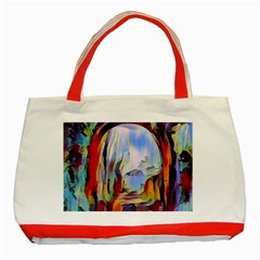 Abstract Tunnel Classic Tote Bag (red)
