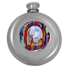 Abstract Tunnel Round Hip Flask (5 Oz)