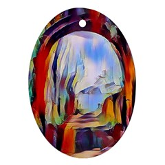 Abstract Tunnel Oval Ornament (two Sides)