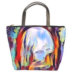 Abstract Tunnel Bucket Bags