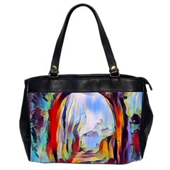 Abstract Tunnel Office Handbags (2 Sides)