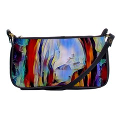 Abstract Tunnel Shoulder Clutch Bags