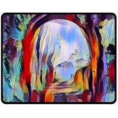 Abstract Tunnel Fleece Blanket (medium)