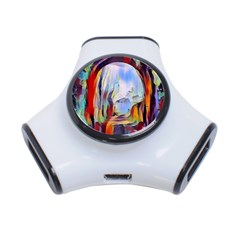Abstract Tunnel 3 Port Usb Hub