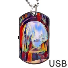 Abstract Tunnel Dog Tag Usb Flash (two Sides)