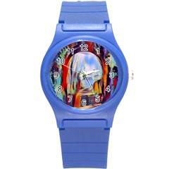 Abstract Tunnel Round Plastic Sport Watch (s)