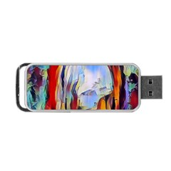 Abstract Tunnel Portable Usb Flash (two Sides)