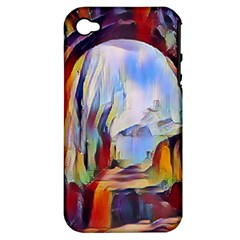 Abstract Tunnel Apple Iphone 4/4s Hardshell Case (pc+silicone)