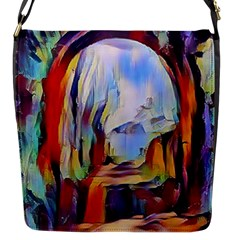 Abstract Tunnel Flap Messenger Bag (s)