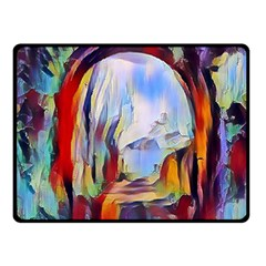 Abstract Tunnel Double Sided Fleece Blanket (small)