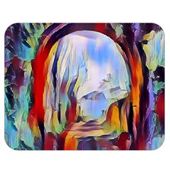 Abstract Tunnel Double Sided Flano Blanket (medium)