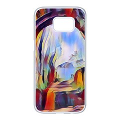 Abstract Tunnel Samsung Galaxy S7 Edge White Seamless Case