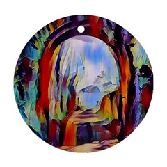 Abstract Tunnel Ornament (round)