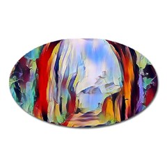 Abstract Tunnel Oval Magnet