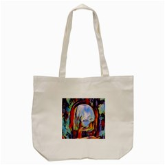Abstract Tunnel Tote Bag (cream)